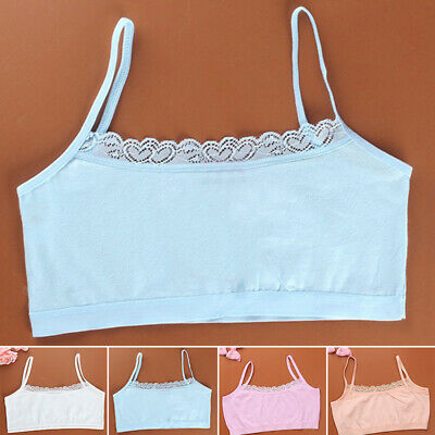 Young Girls Lace Bras Underwear Sexy Vest Sport Running Training Puberty Tops