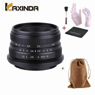 Kaxinda 25mm F1.8 Manual Focus Prime Fixed Lens for Canon Mirrorless Cameras