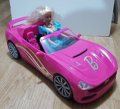 Barbie Dream Car Pink Convertible With Doll n Clothes Radio NO Remote Control