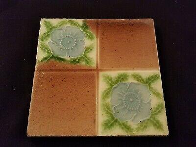 "Reclaimed Antique Single 6"" x 6"" Edwardian Tile Tiling Decor (ER287)"