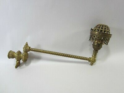 Antique Brass Eastlake Style Gas Light Fixture/Arm   PA#29