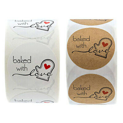 Baked With Love Wedding Decoration Gift Tag Paperboard Adhesive Roll Stickers