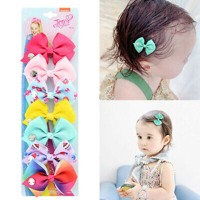 Girls Ribbon Bow Hair Clip Kids Alligator Clips Party Hair Upturned Bow CL