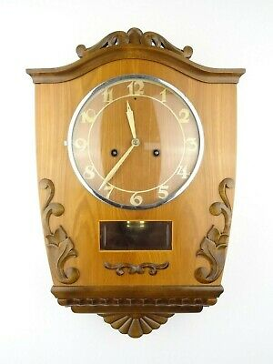Swedish Junghans Vintage Antique Wall Clock Mid Century 8 day (Westerstrand era)