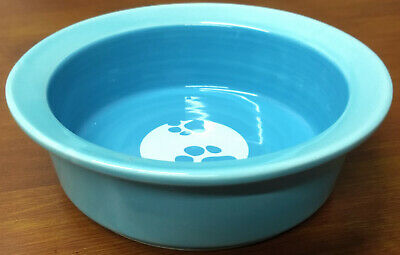 """2012 Furry Friends Co Label WATER Ceramic Stoneware Small Puppy Paws 5"""" PET BOWL"""