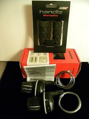 Sram 6 Speed Gripshift Set With Grips and Cables 3 x 6