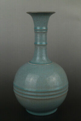 A Fine Collection of Chinese 12thC Song Ru Ware Porcelain Matrass Vase