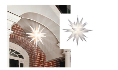 "21"" Christmas Porch Star Light, LED Moravian Tree Topper Keystone Holiday"