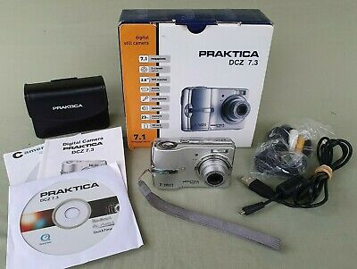 Praktica DCZ 7.3 Digital Compact 7.1 MP Camera Boxed Excellent Condition