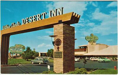 WILBUR CLARKS DESERT INN*1950's Casino/Old Cars**las vegas nevada Post Card*A 69