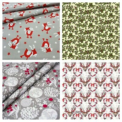 christmas 2019 fabrics100% cotton fabric sold by big fat quarter