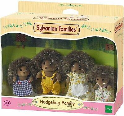 Sylvanian Families Hedgehog Family Set Collectable Posable Figures Toy 4 Pieces