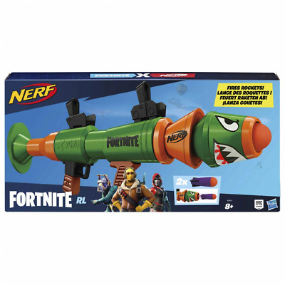 Nerf Fortnite RL Blaster - Fires Foam Rockets - Includes 2 Official - For Youth,