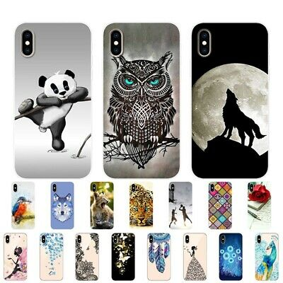 for iPhone 11 Pro Max Case Slim Painted soft Cartoon TPU Silicone Case Cover