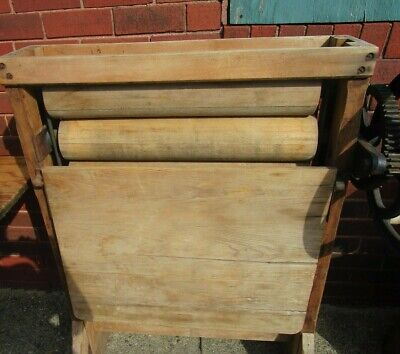 Antique wood washing machine wringer