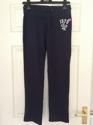 Indigo Collection Age 12-13 Yrs Navy Cotton Jersey Casual Trousers Vgc