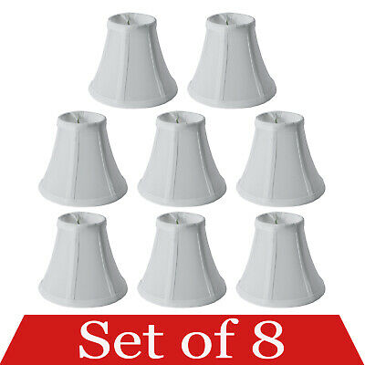 Urbanest Set of 6, Cream Chandelier Mini Lamp Shades 5 inch, Bell, Clip On