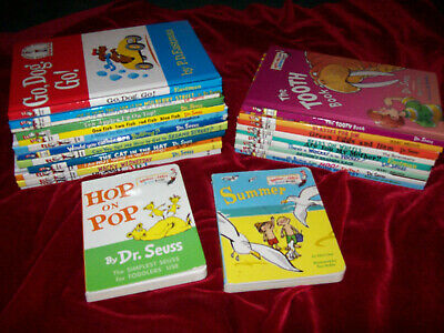 Lot of 24 Dr Seuss Beginner Books I Can Read/Bright Cat Hat Are you My Mother ++