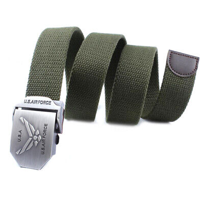 Mens Canvas Belt Military Tactical Waist BeltUS Airforce Alloy Buckle Belts J zg