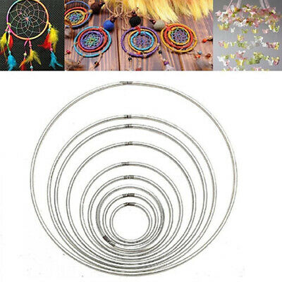 Metal Ring Hoops Macramé Craft Dream Catcher Butterfly Ring Feather Pentacle