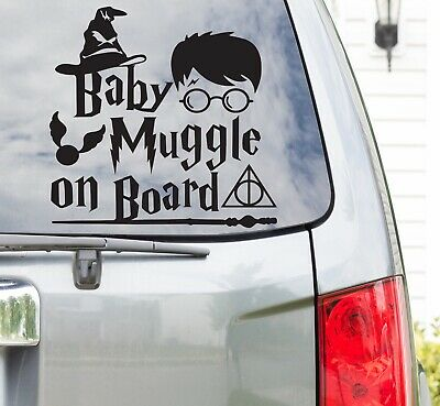 Harry Potter Baby Muggle on Board Vinyl Car Decal Sticker / can be personalised