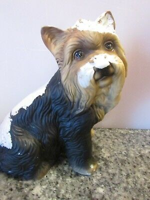 "Dogs and ornaments - latex mould mold of a gorgeous Westie Dog 7"" tall"