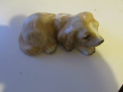 "latex mould mold of a very small golden retriever dog just 4"" long x 2"" x 1.5"""