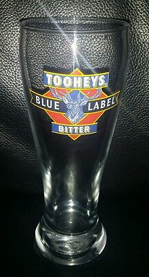 Rare Collectable Tooheys Blue Label Bitter 285Ml Beer Glass Great Used Condition