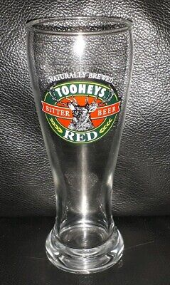 Rare Collectable Tooheys Red Bitter Beer 285Ml Beer Glass In Excellent Condition
