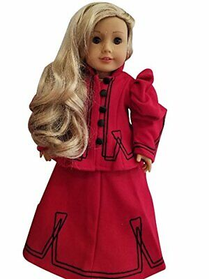 American Doll Red Victorian Christmas Dress OUTFIT -  18 in Girl Doll Clothes
