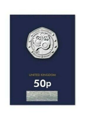 Wallace & Gromit 50p 30TH Anniversary BUNC On Card free postage