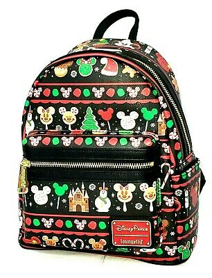 Loungefly Disney Parks Mickey Mouse Holiday Park Snacks Festive Mini Backpack