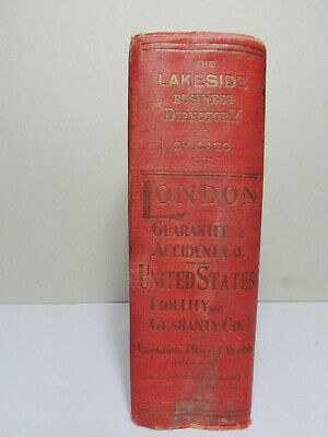 The Lakeside Business Directory of Chicago 1907 Donnelley