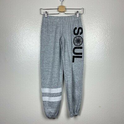 SoulCycle Women's Soft Fleece Jogger Sweatpants in Gray Size XSmall