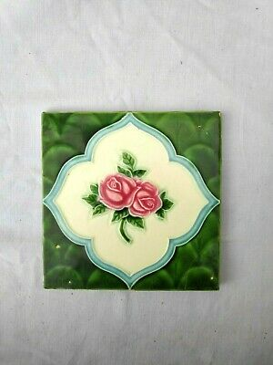 1940s Vintage Embossed Peranakan Art Architecture / Furniture Tile