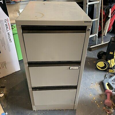 Precision 3 Drawer Metal Filing Cabinet Home Office