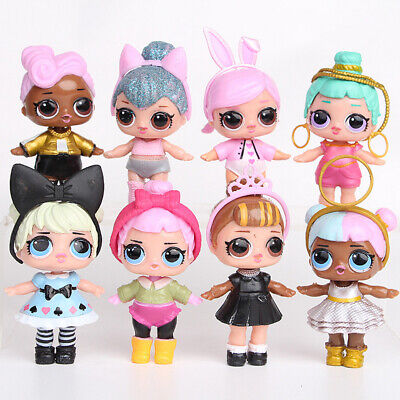 8pcs LOL SURPRISE Series DOLL Toy PVC Figure Cake Topper Gift Kid Birthday Toy