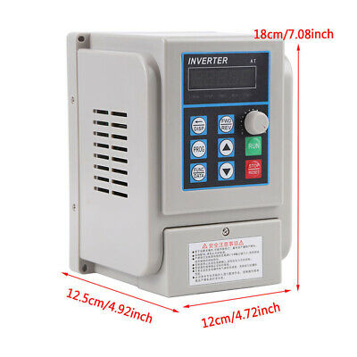 AC 1.5Kw 220V Single Phase/3-Phase Variable Frequency Drive Converter Motor VFD