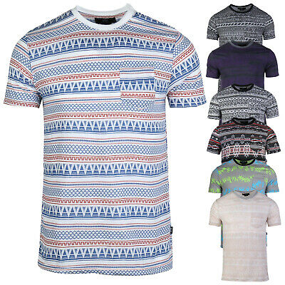 Men's Essentials Cotton Novelty Casual Workout  Full Jacquard Pocket Tee