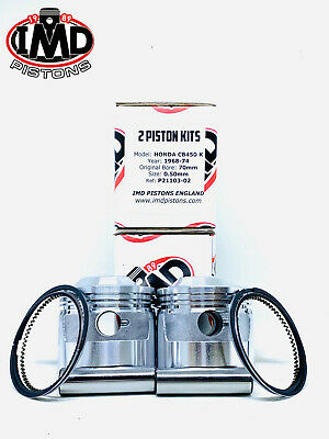 HONDA CB 450 CL450 Twin 1968-1974 +0.50mm PISTON KITS (2)