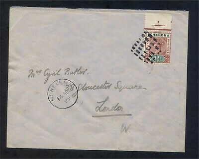 St Helena 1½d QV 1899 Cover to London