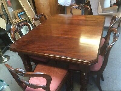 Victorian Wind Out Dining Table & 6 Chairs