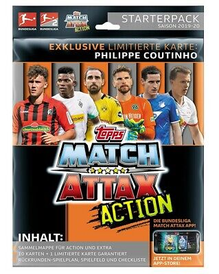 Topps Match Attax Action 2019/2020 Starterpack + 1 Display - 20 Booster 19/20
