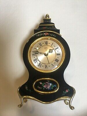 UTI Swiss Made Mantle Clock Hand Painted