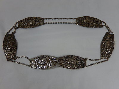 ANTIQUE EARLY CHINESE EXPORT LATE 1800'S-1900's EXQUISITE STERLING SILVER BELT