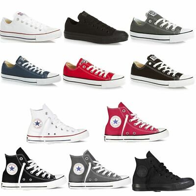Converse All Star MENS & WOMENS Hi Low Top Canvas Trainers Shoes