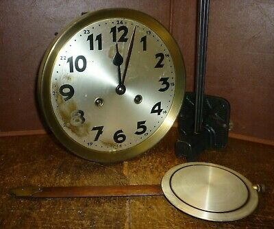 Rare German Ting Tang Striking Wall Clock Movement+Dial Pendulum Gong Complete