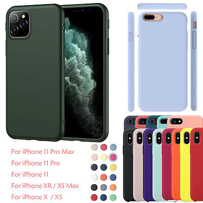 For iPhone 11 Pro Max XR XS Max 8 7P 6 Ultra Thin Slim Soft Rubber Silicone Case