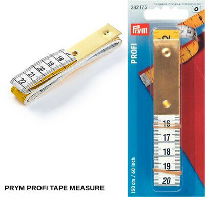"Metal Plate 150cm//60/"" Tailors Dressmaker 282330 Prym Professional Tape Measure"
