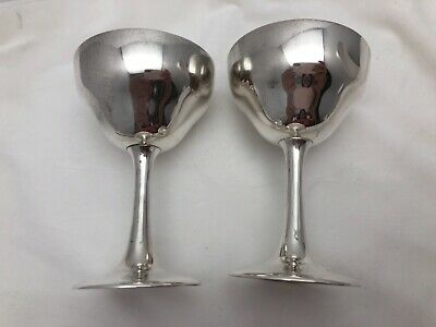 """S. Kirk & Son Sterling Silver .925 4.5"""" Sherry Red Wine Champagne Goblets (2)"""